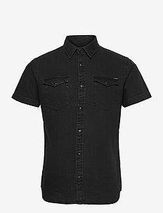 JJESHERIDAN SHIRT S/S SN - basic skjortor - black denim