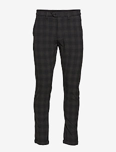 JJIMARCO JJCONNOR AKM773 DG CHECK NOOS - suit trousers - dark grey