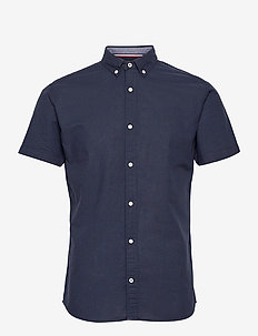 JJESUMMER SHIRT S/S S21 STS - kortärmade skjortor - navy blazer