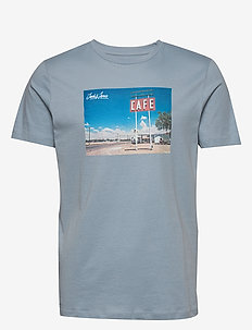 JORCAFE TEE SS CREW NECK - ASHLEY BLUE