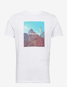 JORCAFE TEE SS CREW NECK - kortærmede t-shirts - white