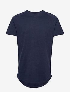 JJECURVED TEE SS O-NECK NOOS - basic t-shirts - navy blazer