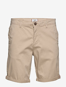 JJIBOWIE JJSHORTS SOLID SA STS - WHITE PEPPER