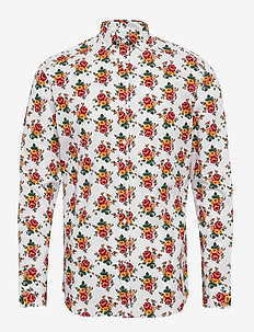 JPRBLA SMITH FLOWER SHIRT L/S PRE - WHITE