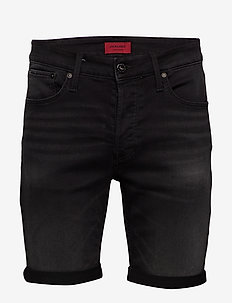 JJIRICK JJICON SHORTS GE 010 I.K STS - BLACK DENIM