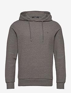 JPRBLAHARDY SWEAT HOOD PRE STS - basic sweatshirts - grey melange