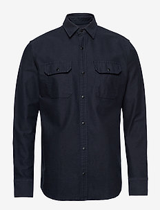 JCOPETER DENIM SHIRT LS WORKER - basic shirts - sky captain