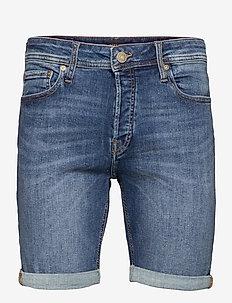 JJIRICK JJORIGINAL SHORTS AGI 005 - jeansshorts - blue denim