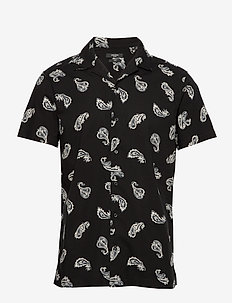 JPRBLAPASE PRINT SHIRT S/S RESORT - BLACK