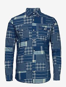 JPRBLUPATCH SHIRT L/S WORKER - rutiga skjortor - faded blue