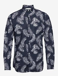 JPRBLASUMMER LEAF SHIRT L/S S20 - casual skjortor - navy blazer