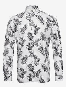 JPRBLASUMMER LEAF SHIRT L/S S20 - casual skjortor - white