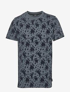 JPRCROSBY BLA. TEE SS CREW NECK - t-shirts à manches courtes - dark dusty blue