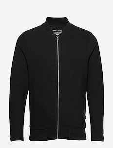 JPRGERAD BLA. SWEAT ZIP CREW NECK PRE - BLACK
