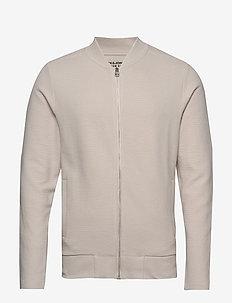JPRGERAD BLA. SWEAT ZIP CREW NECK PRE - basic sweatshirts - wind chime