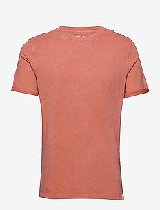 JORLEVEL TEE SS CREW NECK - basic t-shirts - chili