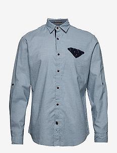 JORCHANDLER SHIRT LS - basic skjortor - ashley blue