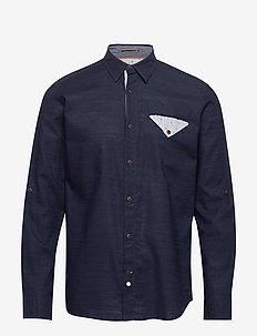 JORCHANDLER SHIRT LS - basic skjortor - navy blazer