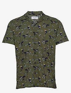 JORLUCAS AOP SHIRT SS SH - kortärmade skjortor - dusty olive