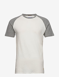 JORNEWCASTLE  TEE SS  RAGLAN - t-shirts basiques - cloud dancer