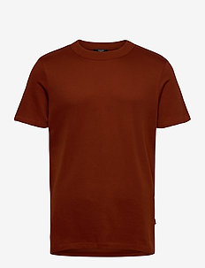 JPRRUSHTON BLA. TEE SS CREW NECK - kortärmade t-shirts - dark salamander