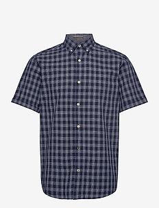 JORDENNIS SHIRT SS - rutiga skjortor - navy blazer