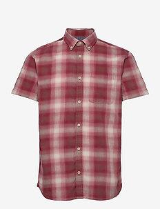 JPRBLUHUNTER SHIRT S/S ONE POCKET - kortärmade skjortor - red dahlia