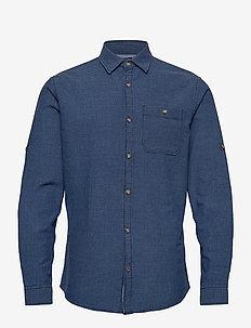 JPRBLUEASTON SHIRT L/S ONE POCKET - casual skjortor - denim blue