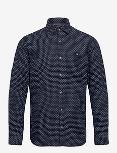 JPRBLUEASTON SHIRT L/S ONE POCKET - casual skjortor - navy blazer