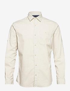 JPRBLUEASTON SHIRT L/S ONE POCKET - casual skjortor - whisper white