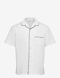 JPRBLAPIPING RESORT SHIRT S/S RELAX - kortärmade skjortor - white