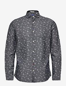 JORDAN SHIRT LS - linneskjortor - navy blazer