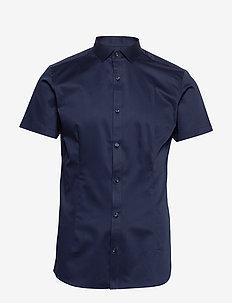 JPRBLAPARMA SOLID SHIRT S/S PLAIN - chemises basiques - navy blazer