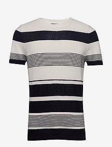 JPRBLALOST SS CREW NECK - kortärmade t-shirts - maritime blue