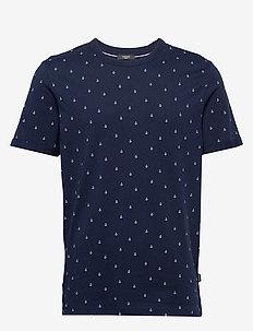 JPRTRISTAN BLA. TEE SS CREW NECK - t-shirts à manches courtes - navy blazer