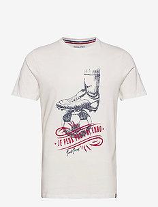 JORSOCCER TEE SS CREW NECK - t-shirts à manches courtes - cloud dancer