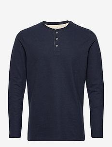 JJEJEANS HENLEY L/S NOOS - basis-t-skjorter - navy blazer