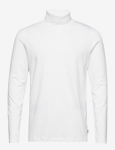 JPRSMART BLA. TEE LS ROLL NECK - WHITE
