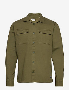 JJEWALTER OVERSHIRT L/S AU20 - tops - olive night