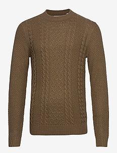 JJKIM KNIT CREW NECK - tricots basiques - sepia tint