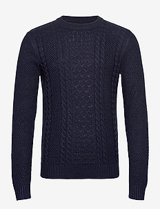 JJKIM KNIT CREW NECK - basic knitwear - sky captain