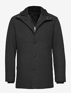 JJDUAL WOOL JACKET - ulljakker - dark grey melange