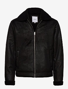 JJFLIGHT JACKET - skinnjakker - black
