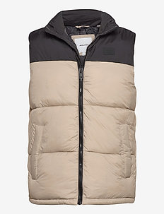JJDREW PUFFER BW - vests - crockery