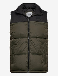 JJDREW PUFFER BW - vests - forest night