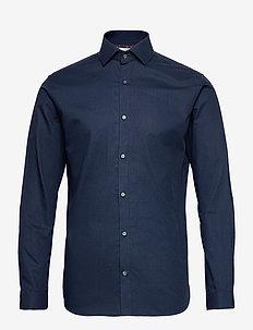 JPRBLAVIGGO DOBBY SHIRT L/S NOOS - basic overhemden - navy blazer