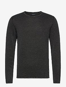 JJELEO KNIT CREW NECK NOOS - basic knitwear - caviar