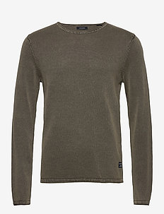 JJELEO KNIT CREW NECK NOOS - basic knitwear - dusty olive