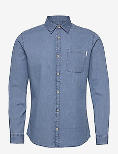 JJTED SHIRT LS - casual shirts - light blue denim