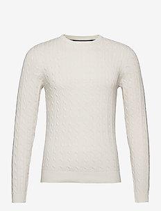 JJRICHARD KNIT CREW NECK - tricots basiques - cloud dancer
